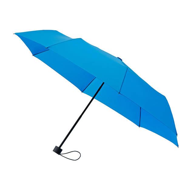 miniMAX paraplu windproof handopening 98 cm lichtblauw