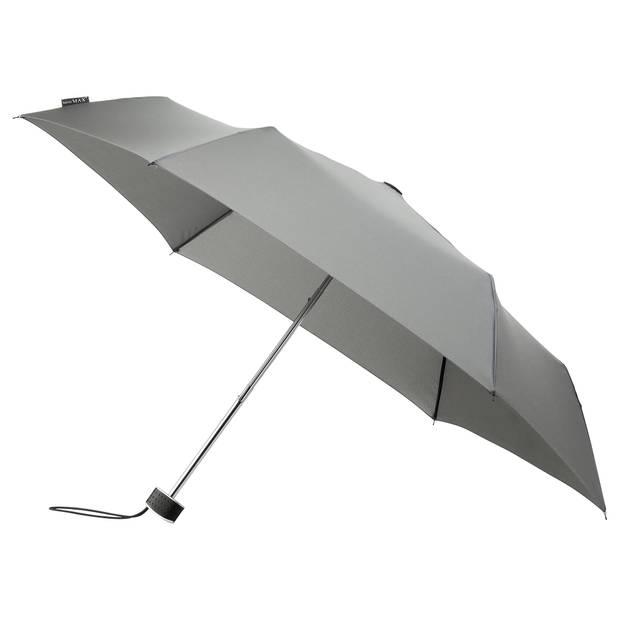 miniMAX paraplu windproof handopening 90 cm grijs