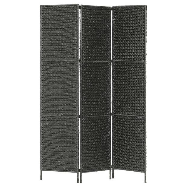 vidaXL Kamerscherm met 3 panelen 116x160 cm waterhyacint zwart