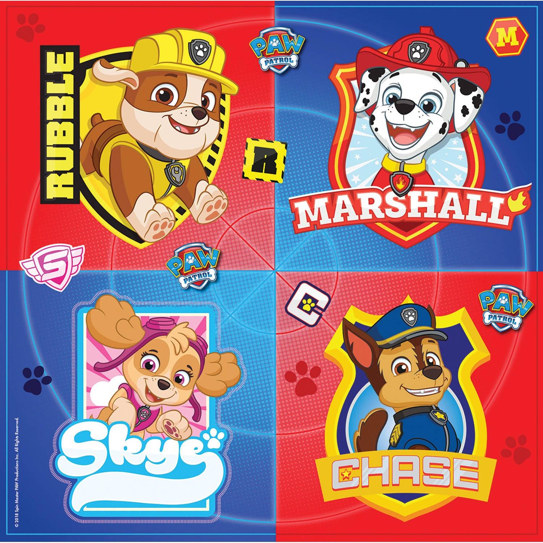 Korting Nickelodeon Servetten Paw Patrol 33 Cm 16 Stuks Multicolor