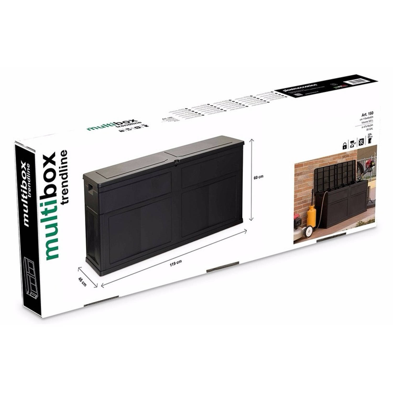 Toomax Hard Kunststof Kussenbox 119 X 46 X 60 Cm Zwart