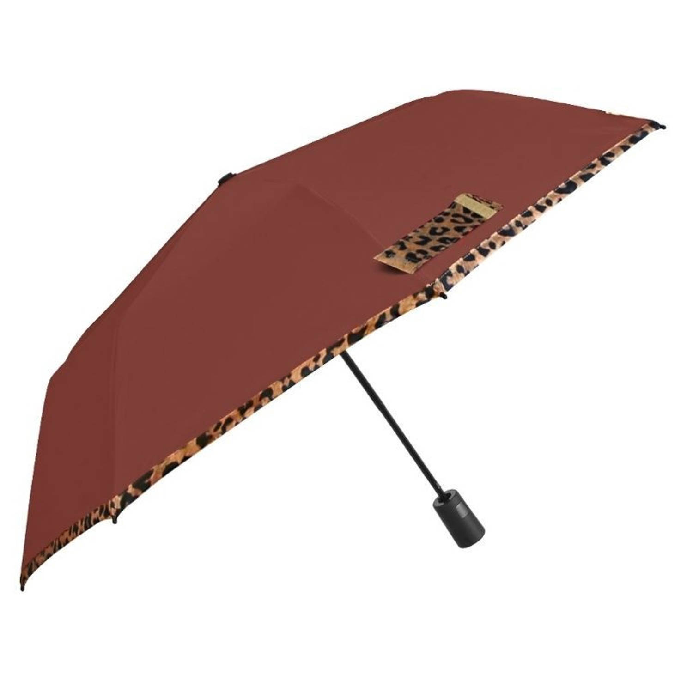 Korting Perletti paraplu automatisch 96 60 29 cm opvouwbaar dames bruin