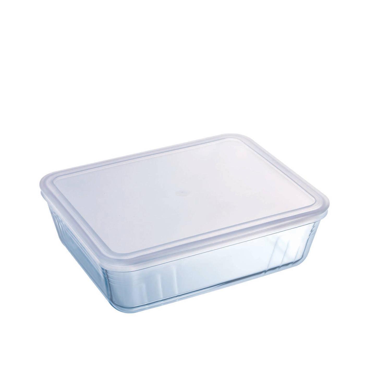 Korting Pyrex Cook en Freeze Ovenschalen Met Deksel Set Van 2 1,5 En 2,6 Liter