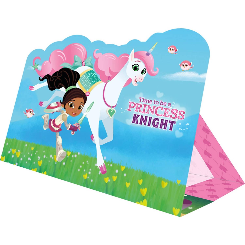 Korting Nickelodeon Uitnodigingen Nella The Princess Knight 16 Cm 8 Stuks