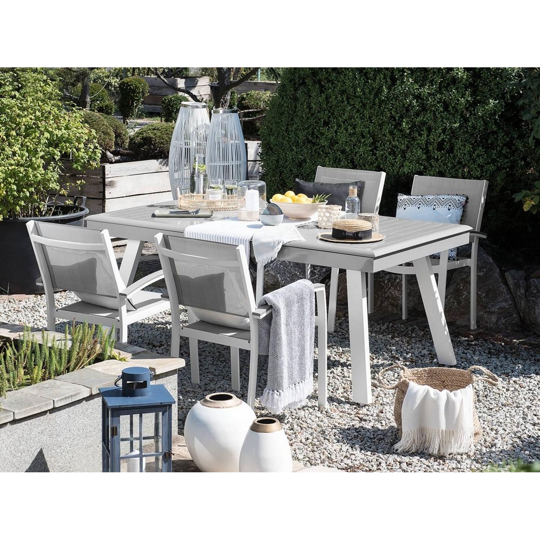 Beliani Pereta - Tuinstoel Set Van 4-grijs-aluminium