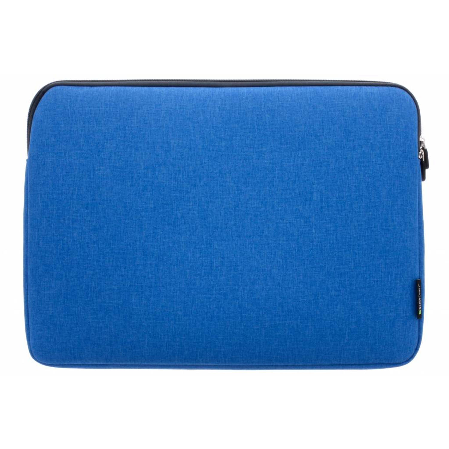 Gecko Covers Blauwe Universal Zipper Laptop Sleeve 15-16 inch