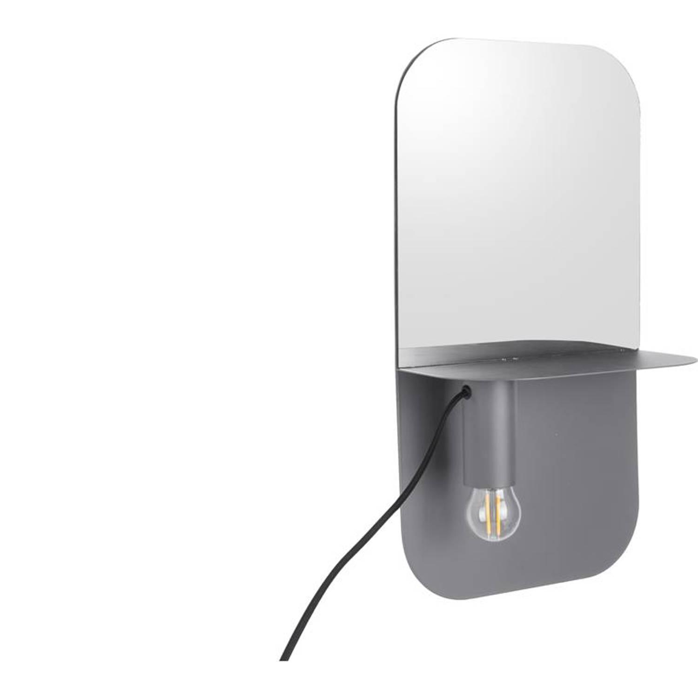 Leitmotiv Plate Wandlamp Met Spiegel