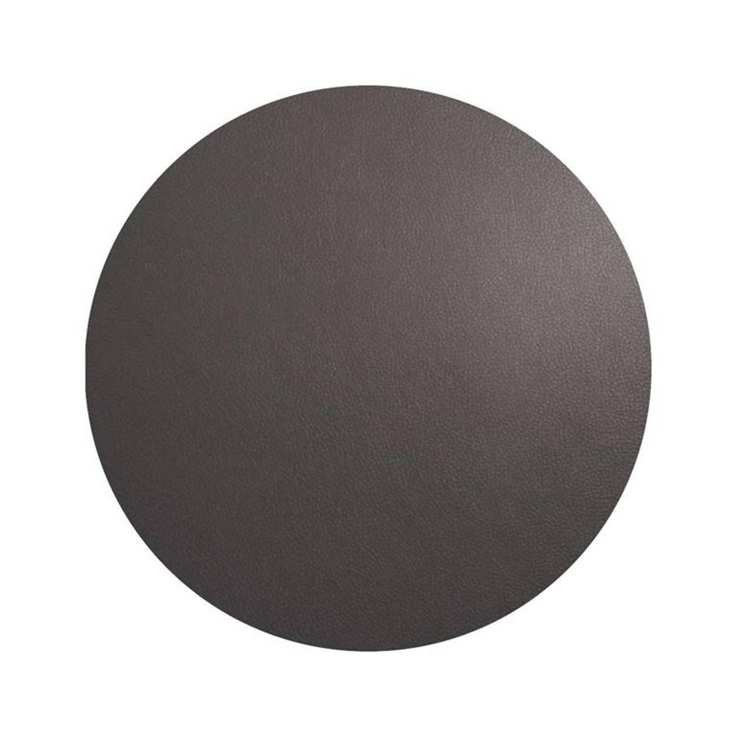 Korting Asa T Table Top Placemat Rond 38cm Basalt Leather