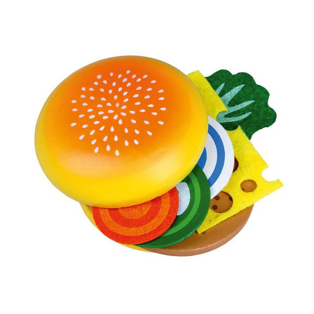 Happy People Speelgoedeten houten hamburger
