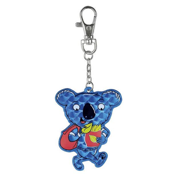 Moses sleutelhanger reflecterend koala 7 cm blauw