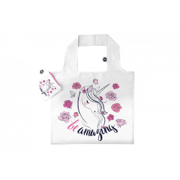 Any Bags opvouwbare shopper Be amazing 48 cm wit