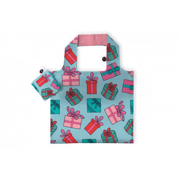 Any Bags opvouwbare shopper cadeautjes 48 cm turquoise