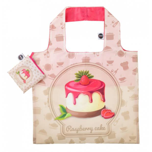 Any Bags opvouwbare shopper Raspberrry cake 48 cm crème