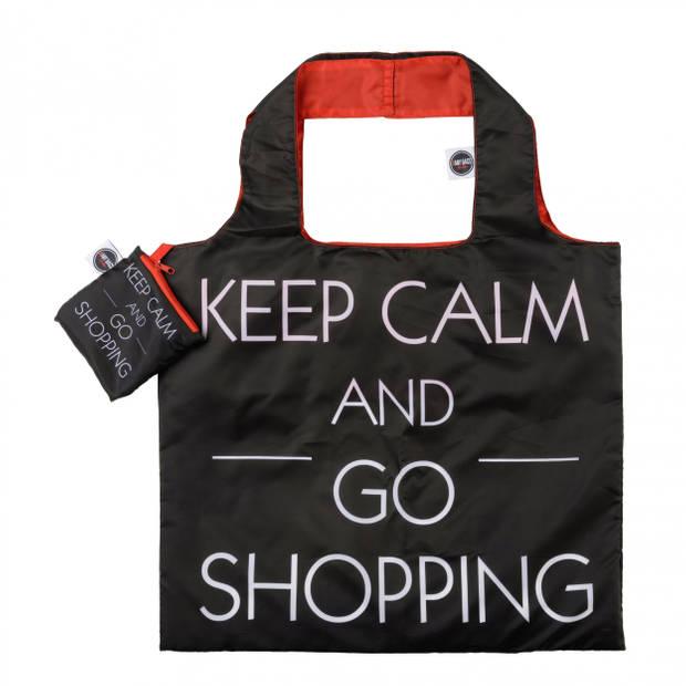 Any Bags opvouwbare shopper Keep Calm 48 cm zwart
