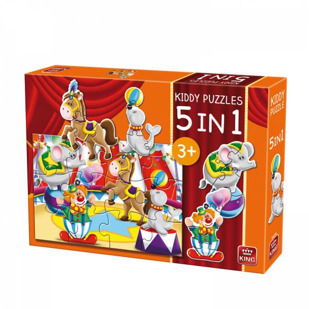 King legpuzzel Kiddy Puzzles 5-in-1 Circus 29 stukjes