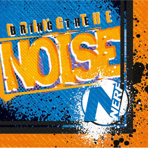 NERF servetten Z Bring the Noise 16,5 cm blauw/oranje 16 stuks