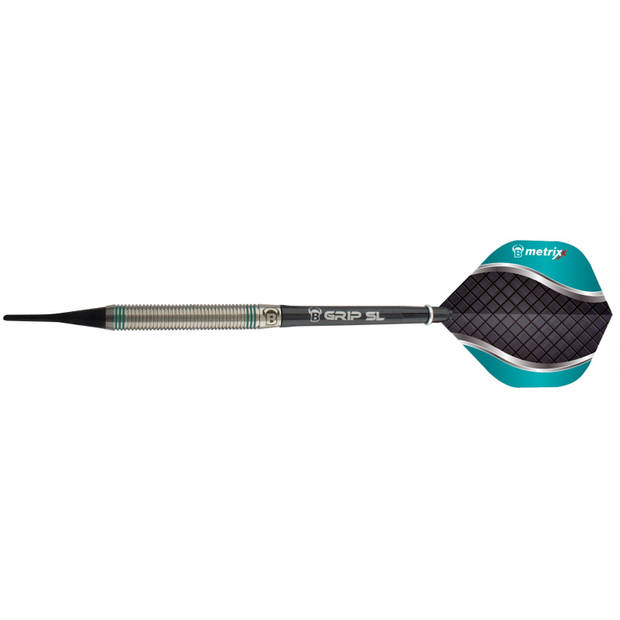 Bull's dartpijlen Artos AR1 softip tungsten zwart/mint