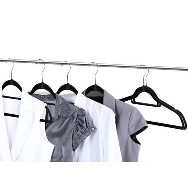 Kledinghangerset 32 stuks - Non slip kledinghangers - Fluweel zwart