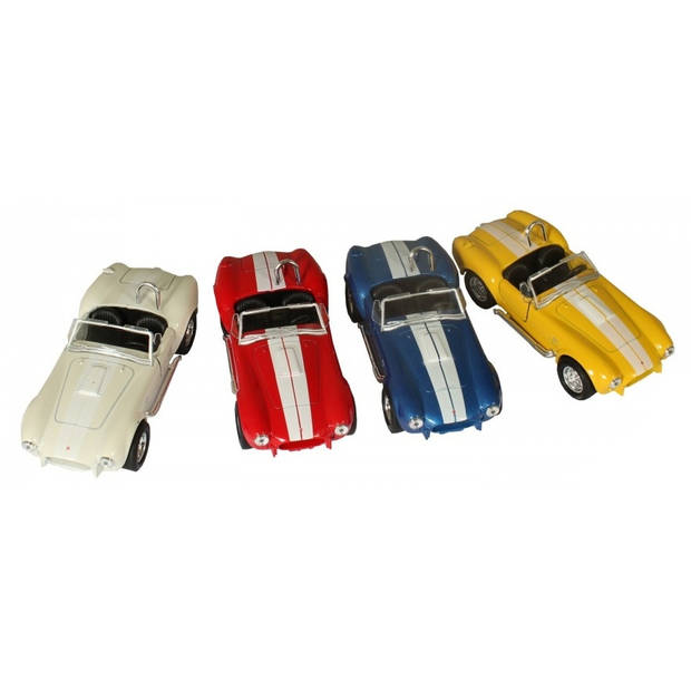 Welly schaalmodel Shelby Cobra 427 1:34 geel 11 cm