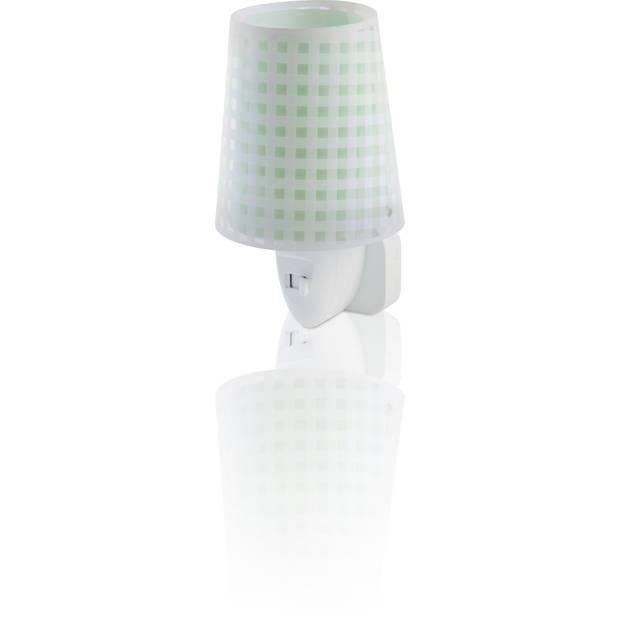 Dalber nachtlamp Vichy 14 cm groen
