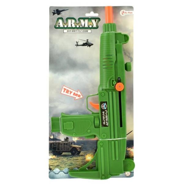 Toi-Toys Militair ratelgeweer groen 37 cm