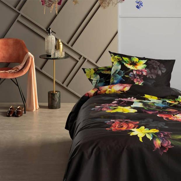 Damai Elysian dekbedovertrek - 1-persoons (140x200/220 cm + 1 sloop) - Katoen satijn - Black