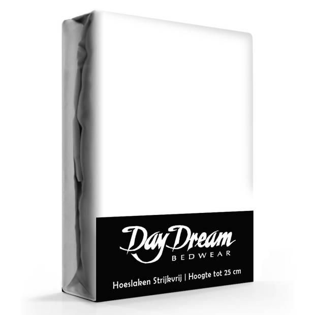 Day Dream Hoeslaken Katoen Wit-160 x 210 cm