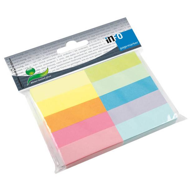 Info Page Marker papier 10x15x50mm, 10 kleuren