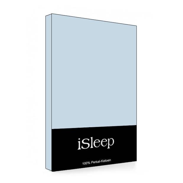 iSleep Laken Perkal Katoen - Blauw - 240x270