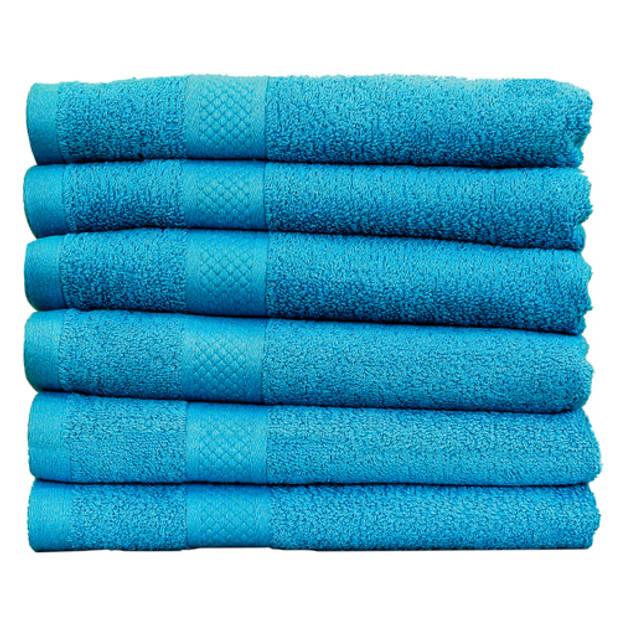 Katoenen Handdoeken Hotelkwaliteit – 6 Pack – 70 x 140 cm – Turquoise