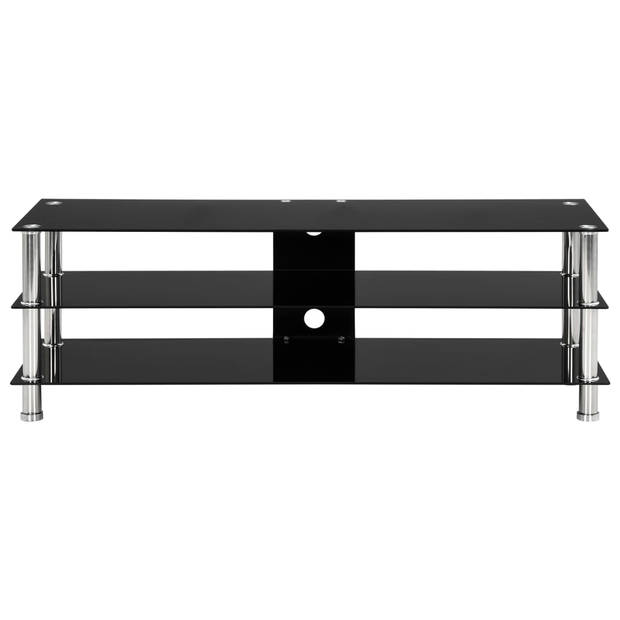 vidaXL Tv-meubel 120x40x40 cm gehard glas zwart