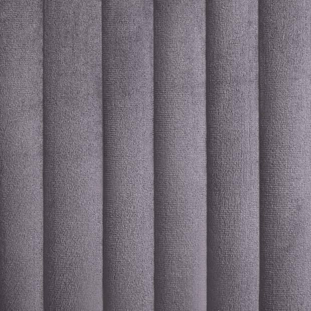 vidaXL Eetkamerstoelen 2 st fluweel grijs