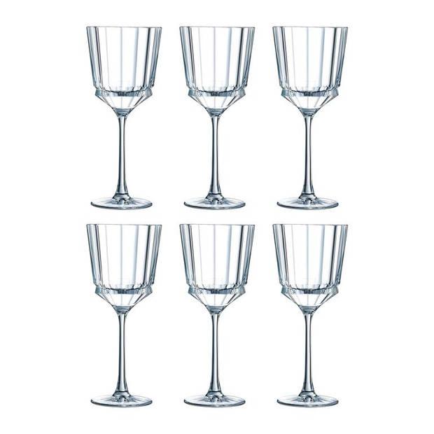Christal d'Arques - Macassar Wijnglas 35 Cl Set/6
