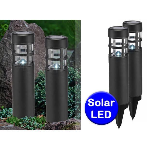Set van 2 Solar Lampjes met Grondpen - Sfeervolle Padverlichting - LED