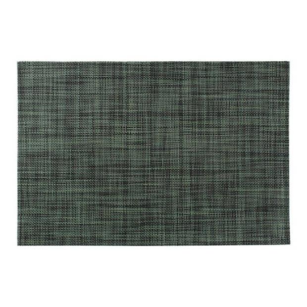 Salt&Pepper - Placemat 30x45cm zwart-groen geweven Artisan