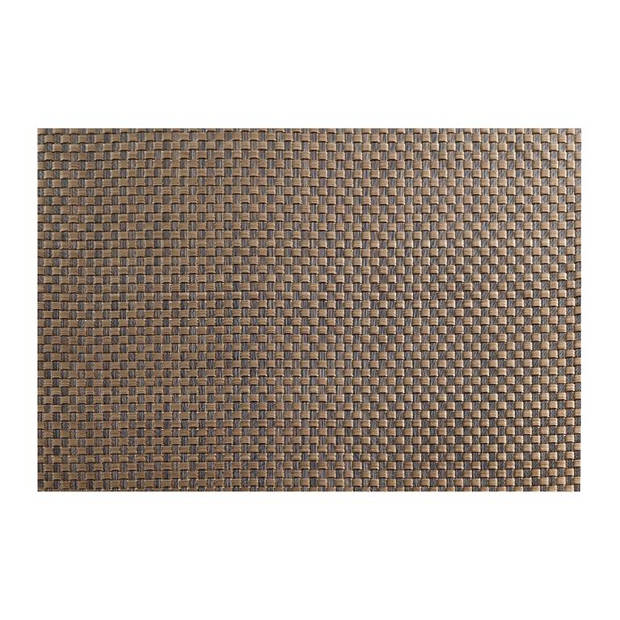 ASA - T Table top placemat 33x46cm copper/brown plaided