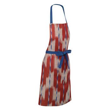 Korting Keukenschort, Rood Blauw Kela Ethno