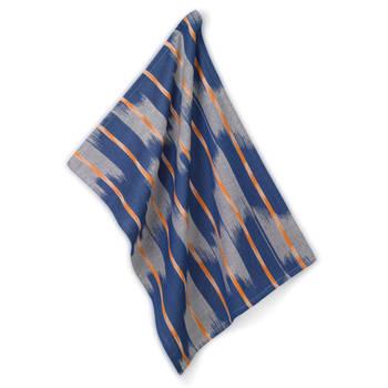 Korting Theedoek, Oranje Blauw Kela Ethno