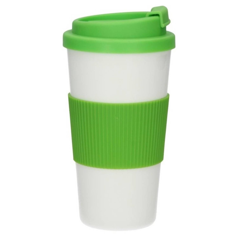Koffie-thee Reis Beker Met Deksel Groen 500 Ml