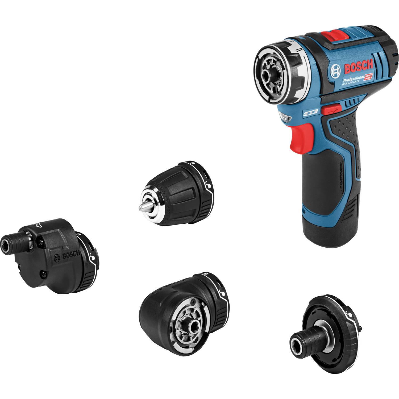 Bosch Accu-schroefboormachine incl. 2 accu's, incl. koffer, incl. accessoires 12 V 2.5 Ah Li-ion