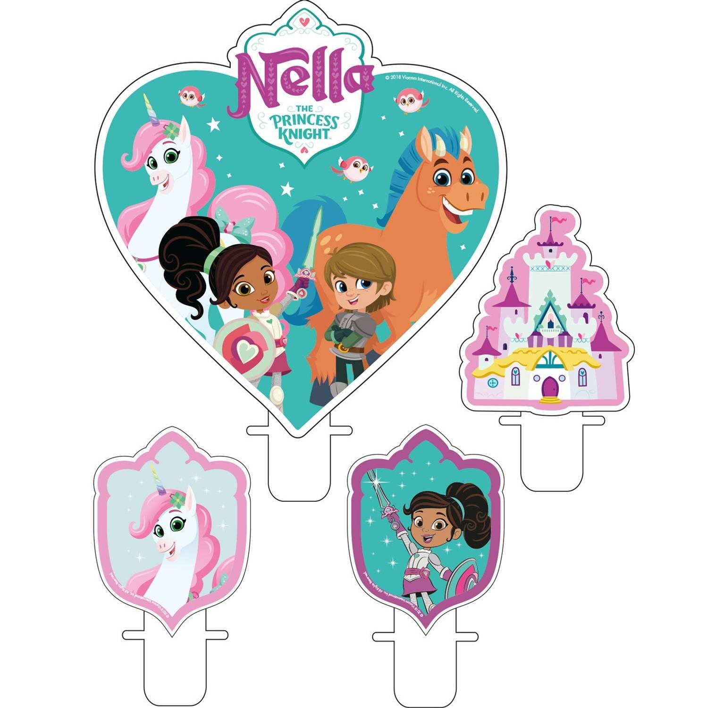 Korting Nickelodeon Verjaardagskaarsjes Nella 6 Cm 4 Stuks