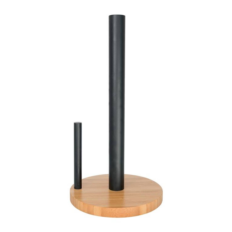Point-virgule - Keukenrolhouder Uit Bamboe Zwart