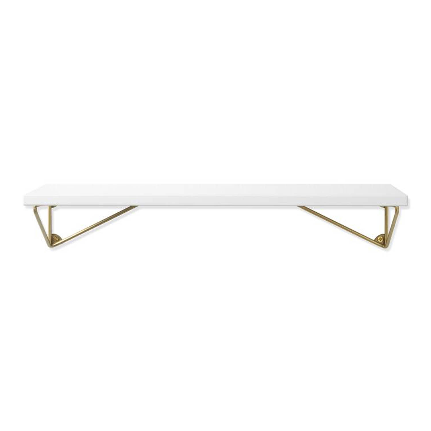 Maze Interior - Pythagoras XS white/brass matte (shelf + brackets)