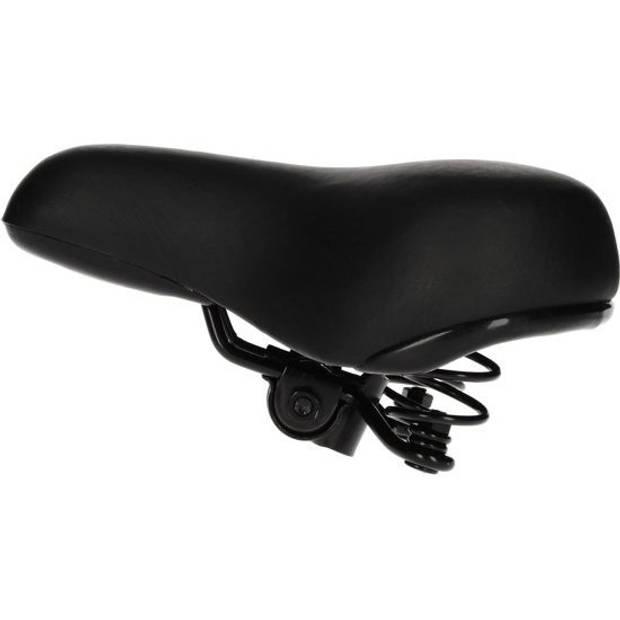Universeel model gel fietszadel zwart voor dames en heren - Zwart