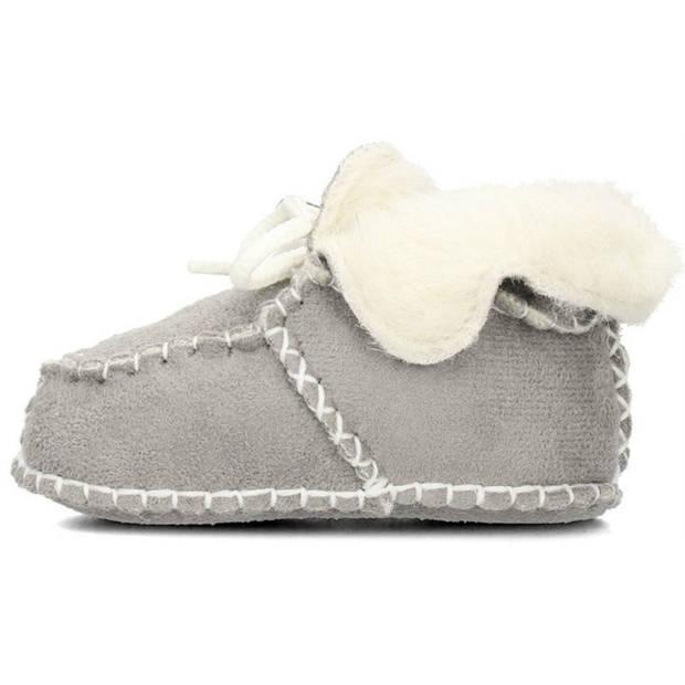 Playshoes babyschoenen schapenvacht grijs maat 16/17