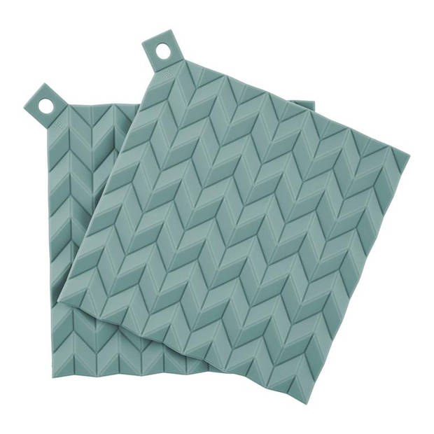 RIGTIG - HOLD-ON pot holders, 2 pcs. - dusty green