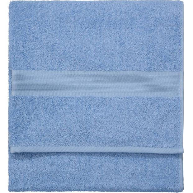 Blokker handdoek 500g - blauw - 140x70 cm