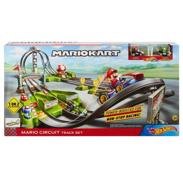 Hot Wheels lanceerbaan Mario Kart Circuit groen/grijs 20-delig