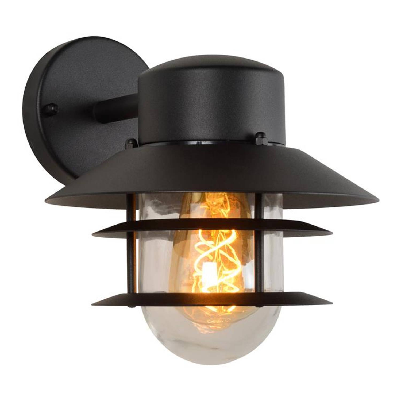 Lucide - Zico - Wandlamp Buiten - Ø 21,8 Cm - Zwart