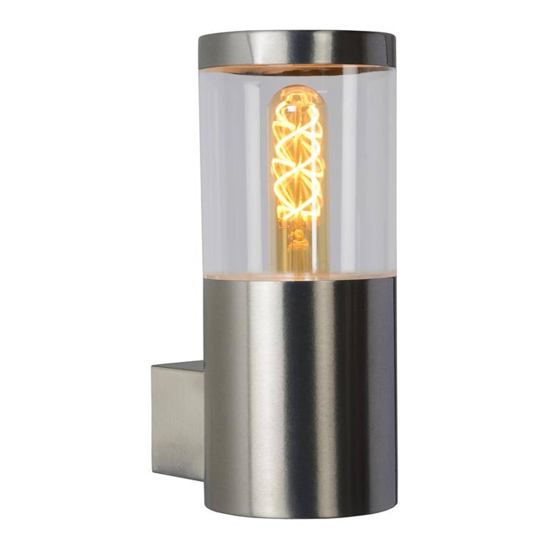 Lucide - Fedor - Wandlamp Buiten - E27 - Ip44 - Mat Chroom